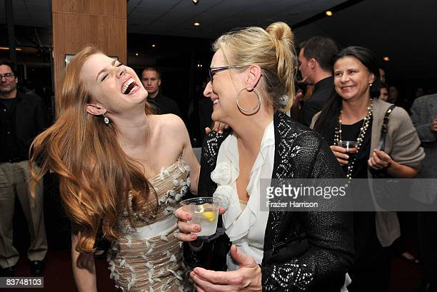 Actors Amy Adams and Meryl Streep attend the special screening Of Miramax's 'Doubt' after party held at the Academy Of Motion Pictures Arts and...