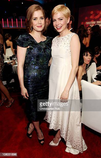 Actors Amy Adams and Michelle Williams during the 16th annual Critics' Choice Movie Awards at the Hollywood Palladium on January 14 2011 in Los...