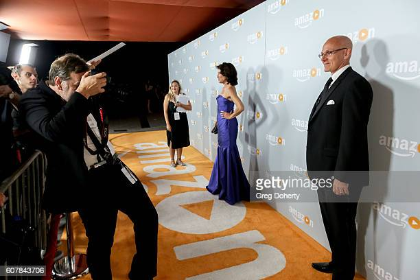 Actors Amy Aquino and Ray Proscia arrives at the Amazon's Emmy Celebration at the Sunset Tower Hotel on September 18 2016 in West Hollywood California