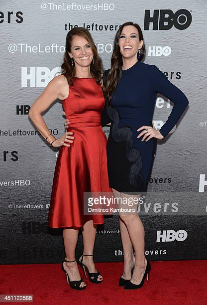 Actors Amy Brenneman and Liv Tyler attend The Leftovers premiere at NYU Skirball Center on June 23 2014 in New York City