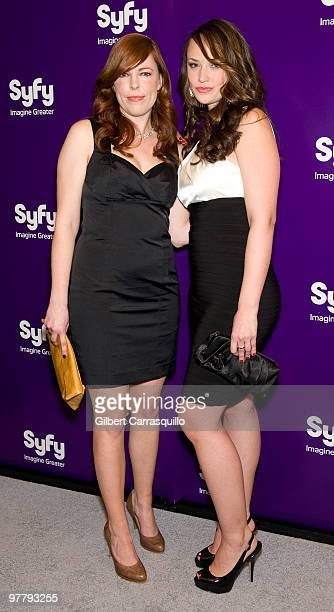 Actors Amy Bruni and Kris Williams attend the SYFY 2010 Upfront Party at The Museum of Modern Art on March 16 2010 in New York New York