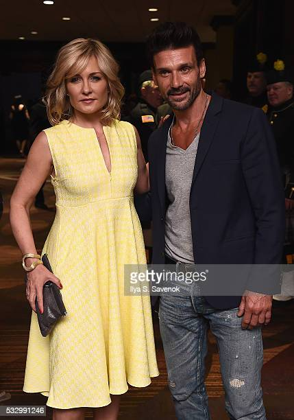 Actors Amy Carlson and Frank Grillo attend the Federal Enforcement Homeland Security Foundation 2016 Ridge Awards at Sheraton Times Square on May 19...