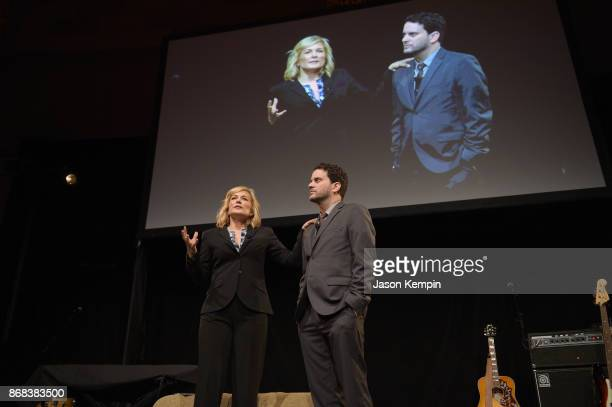 Actors Amy Carlson and Michael Nathanson perform on stage as Equality Now celebrates 25th Anniversary at Make Equality Reality Gala at Gotham Hall on...