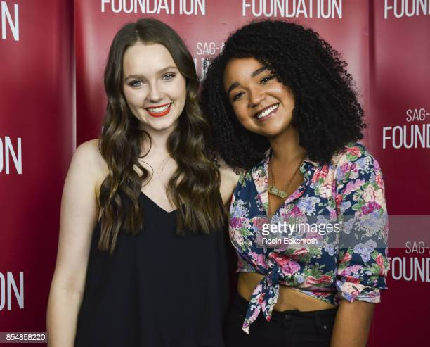 Actors Amy Forsyth and Aisha Dee pose for portrait at SAGAFTRA Foundation Conversations 'Channel Zero NoEnd House' at SAGAFTRA Foundation Screening...