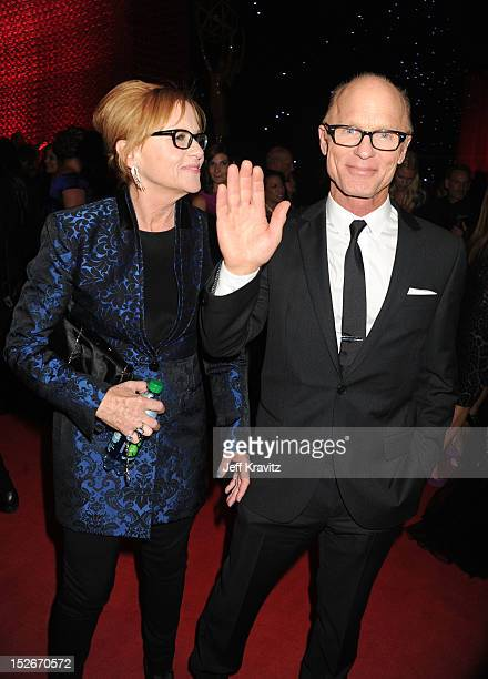 Actors Amy Madigan and Ed Harris attend the 64th Primetime Emmy Awards Governors Ball at Los Angeles Convention Center on September 23, 2012 in Los...