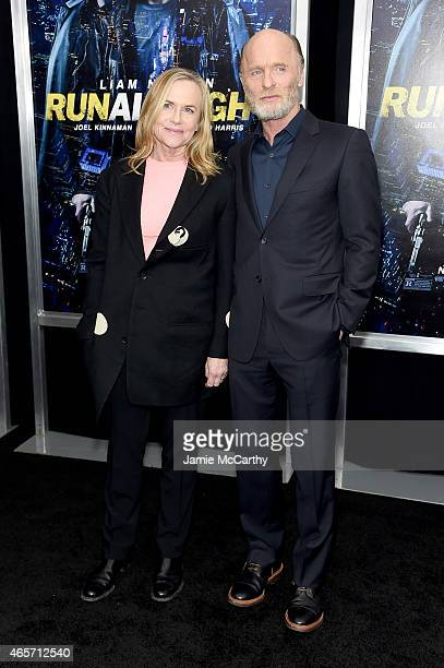 Actors Amy Madigan and Ed Harris attend the Run All Night New York Premiere at AMC Lincoln Square Theater on March 9 2015 in New York City