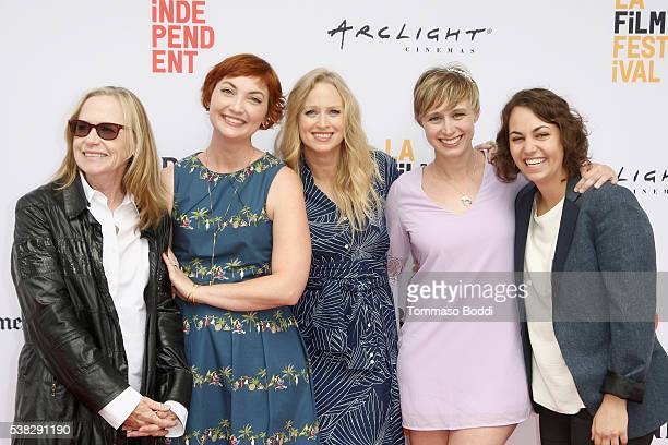 Actors Amy Madigan Jill E Alexander Anna Lise Phillips Amy Vorpahl and Quinn Marcus attend the premiere of 'Sensitivity Training' during the 2016 Los...