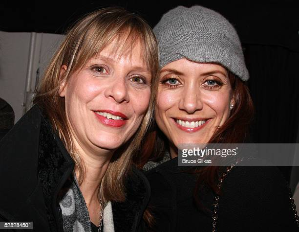 Actors Amy Morton and Kate Walsh pose at The Opening Night After Party for The Steppenwolf Theater Company's August Osage County on Broadway at...