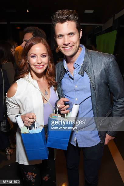 Actors Amy Paffrath and Drew Seeley attend Funimation Films presents 'Your Name' Theatrical Premiere in Los Angeles CA at Yamashiro Hollywood on...
