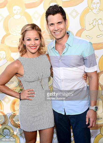 Actors Amy Paffrath and Drew Seeley attend the Wanderlust Hollywood Grand Opening on July 22 2015 in Los Angeles California