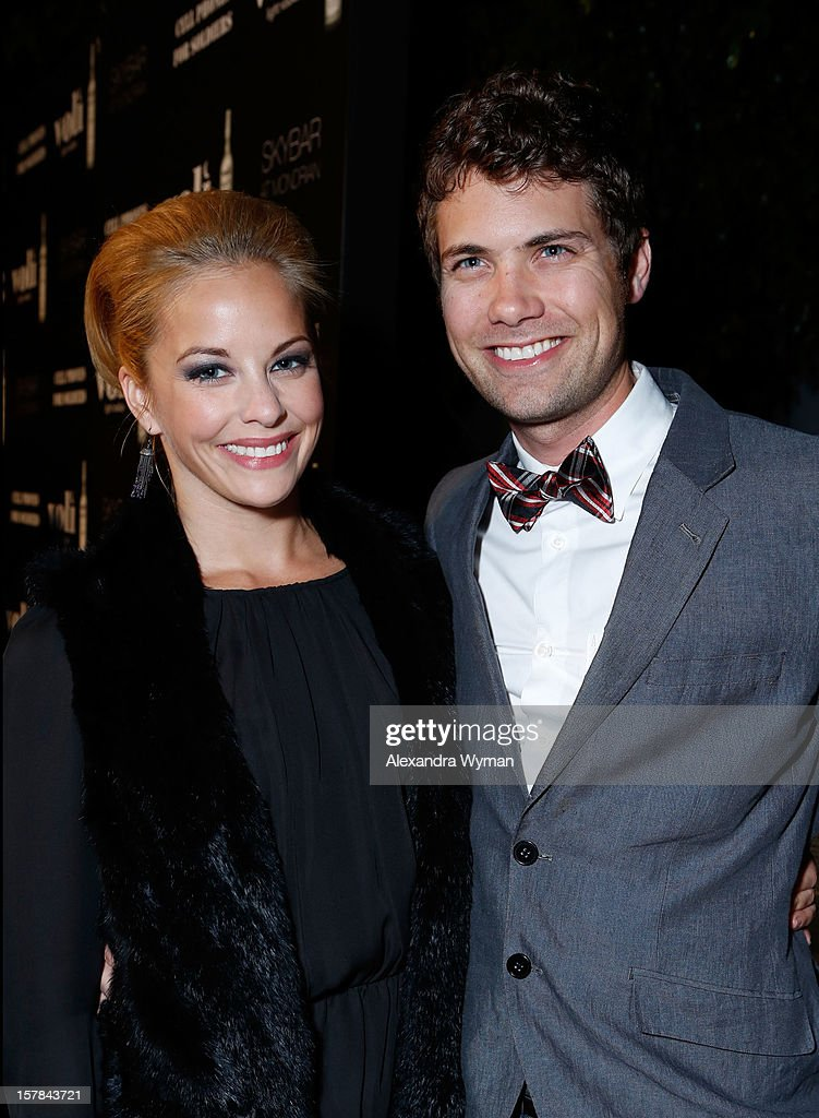 Actors Amy Paffrath and Drew Seeley attend Voli Light Vodka's Holiday Party hosted by Fergie Benefiting Cellphones for Soldiers at SkyBar at the Mondrian Los Angeles on December 6, 2012 in West Hollywood, California.