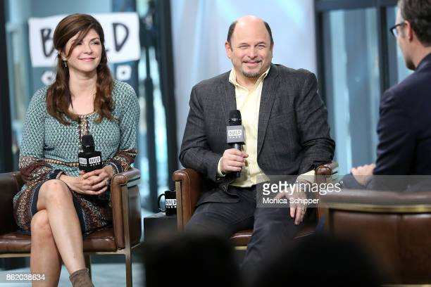Actors Amy Pietz and Jason Alexander discuss 'Hit The Road' at Build Studio on October 16 2017 in New York City