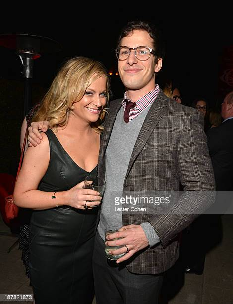 Actors Amy Poehler and Andy Samberg attend the GQ Men Of The Year Party at The Ebell Club of Los Angeles on November 12 2013 in Los Angeles California