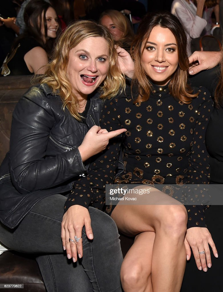 Actors Amy Poehler and Aubrey Plaza attend the after party for the Los Angeles Premiere of INGRID GOES WEST presented by SVEDKA Vodka and Avenue Los Angeles at ArcLight Cinemas on July 27, 2017 in Hollywood, California.
