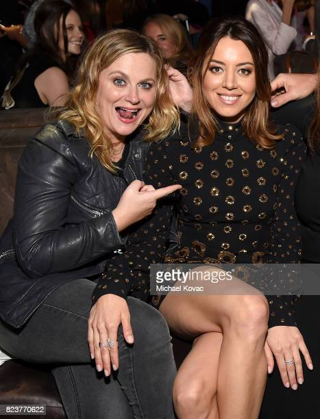 Actors Amy Poehler and Aubrey Plaza attend the after party for the Los Angeles Premiere of INGRID GOES WEST presented by SVEDKA Vodka and Avenue Los...