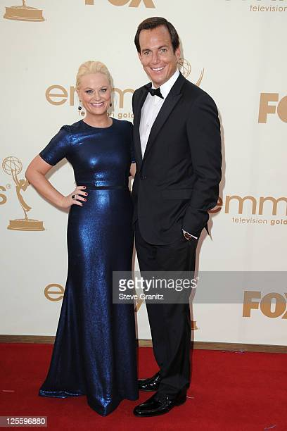 Actors Amy Poehler and Will Arnett arrive to the 63rd Primetime Emmy Awards at the Nokia Theatre LA Live on September 18 2011 in Los Angeles United...