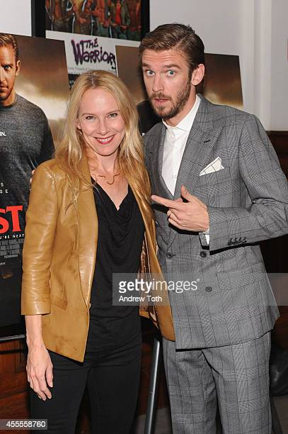 Actors Amy Ryan and Dan Stevens attend 'The Guest' New York special screening at BAM on September 16 2014 in New York City