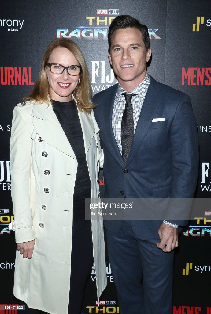 Actors Amy Ryan and Michael Doyle attend the screening of Marvel Studios' 'Thor: Ragnarok' hosted by The Cinema Society with FIJI Water, Men's Journal and Synchrony at the Whitby Hotel on October 30, 2017 in New York City.