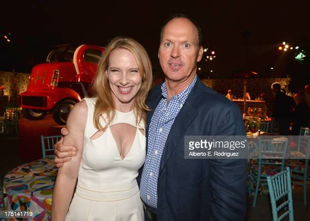 Actors Amy Ryan and Michael Keaton attend the after party for HBO Films' Clear History on July 31 2013 in Hollywood California