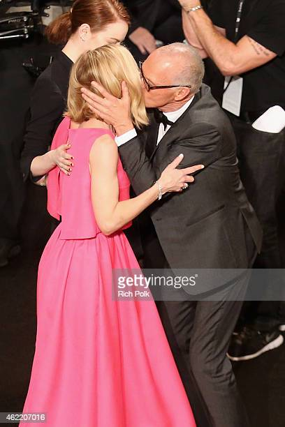 Actors Amy Ryan and Michael Keaton attend TNT's 21st Annual Screen Actors Guild Awards at The Shrine Auditorium on January 25 2015 in Los Angeles...