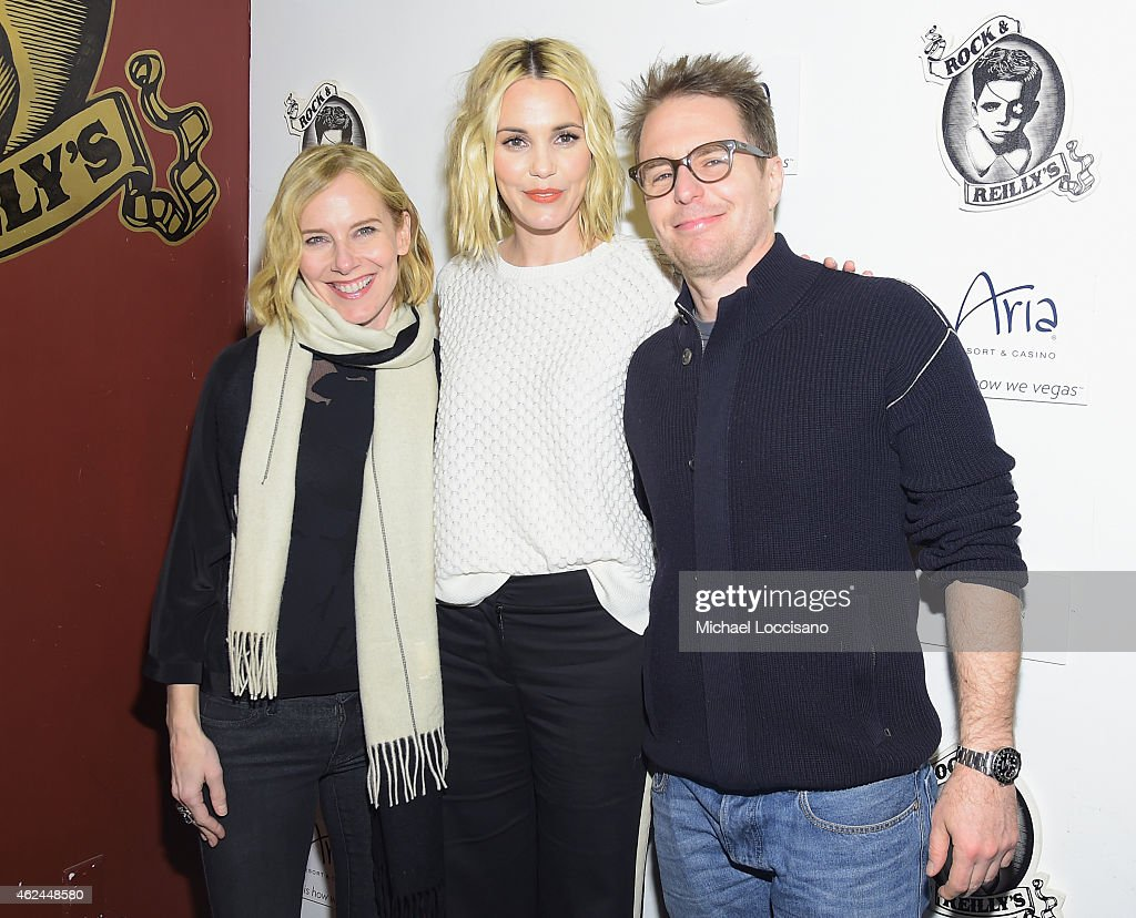 Actors Amy Ryan, Leslie Bibb and Sam Rockwell attend the Lionsgate and ARIA Resort & Casino present the Don Verdean Official After Party at Rock & Reilly's on January 28, 2015 in Park City, Utah.