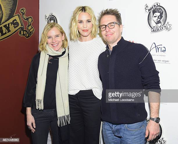 Actors Amy Ryan Leslie Bibb and Sam Rockwell attend the Lionsgate and ARIA Resort Casino present the Don Verdean Official After Party at Rock...