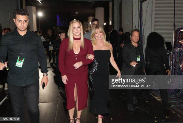 Actors Amy Schumer and Goldie Hawn attend the 2017 MTV Movie And TV Awards at The Shrine Auditorium on May 7 2017 in Los Angeles California