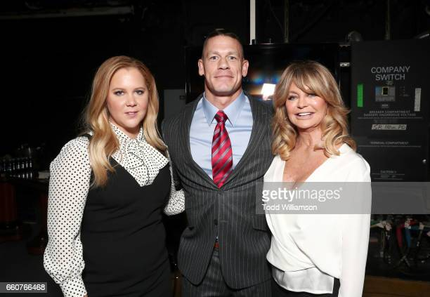 Actors Amy Schumer John Cena and Goldie Hawn at CinemaCon 2017 20th Century Fox Invites You to a Special Presentation Highlighting Its Future Release...