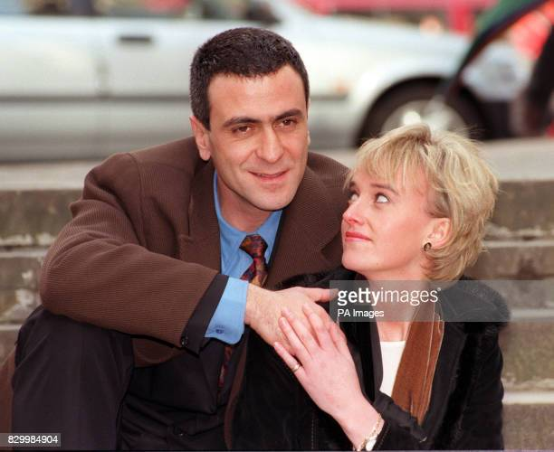 Actors Amy Seccombe and George Jackos who play Diana The Princess of Wales and Dodi Fayad in a TV movie about their relationship entitled People's...