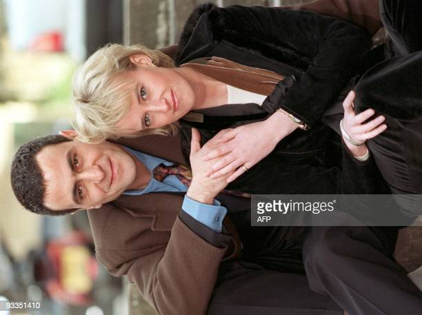 Actors Amy Secombe and George Jackos pose for the camera 14 January at a news conference announcing the making of a TV movie about Diana Princess of...