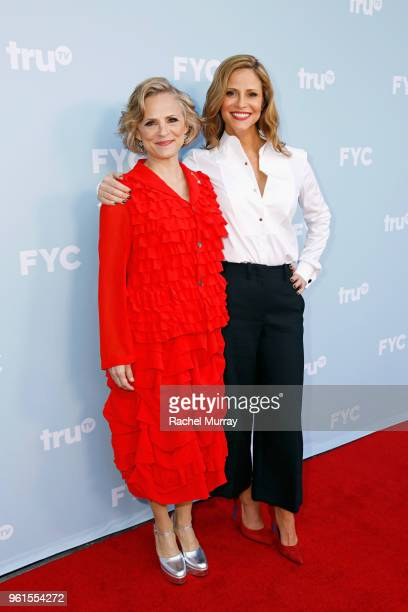 Actors Amy Sedaris and Andrea Savage attend the FYC Event for truTV's At Home with Amy Sedaris I'm Sorry at NeueHouse Hollywood on May 22 2018 in Los...