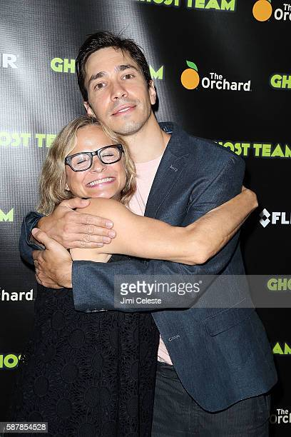 Actors Amy Sedaris and Justin Long attending Premiere Screening of Ghost Team at Metrograph on August 9 2016 in New York City