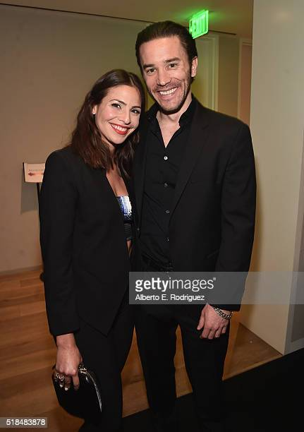 Actors Ana Ayora and Tom Pelphrey attend the after party for the premiere of Cinemax's 'Banshee' 4th Season at UTA on March 31 2016 in Beverly Hills...
