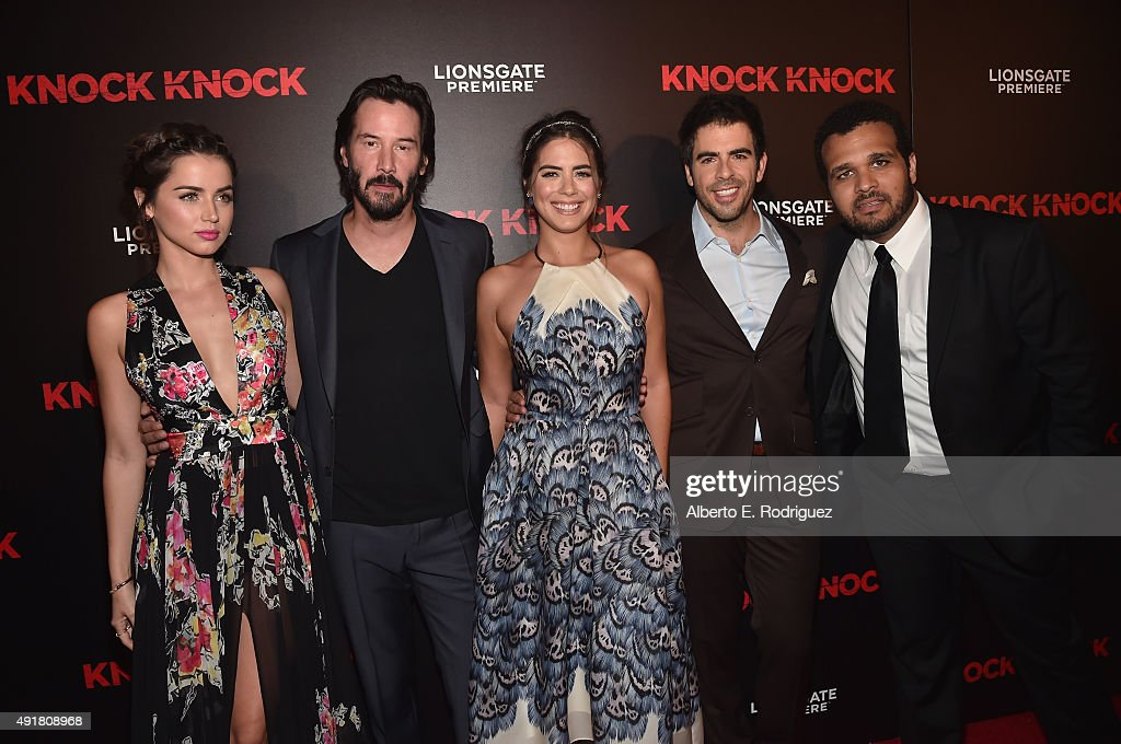 Actors Ana De Armas Keanu Reeves Lorenza Izzo Director Eli Roth News Photo Getty Images