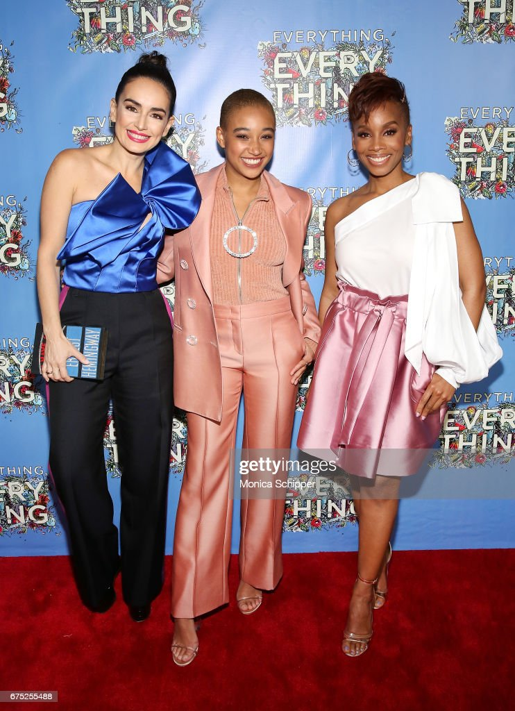 Actors Ana de la Reguera, Amandla Stenberg and Anika Noni Rose attend the 'Everything, Everything' New York Screening at The Metrograph on April 30, 2017 in New York City.