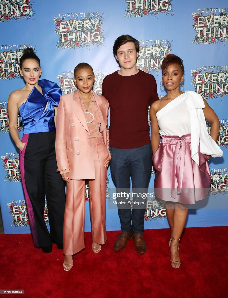 Actors Ana de la Reguera, Amandla Stenberg, Nick Robinson and Anika Noni Rose attend the 'Everything, Everything' New York Screening at The Metrograph on April 30, 2017 in New York City.