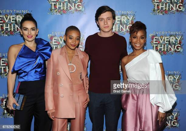 Actors Ana de la Reguera Amandla Stenberg Nick Robinson and Anika Noni Rose attend the Everything Everything New York Screening at The Metrograph on...