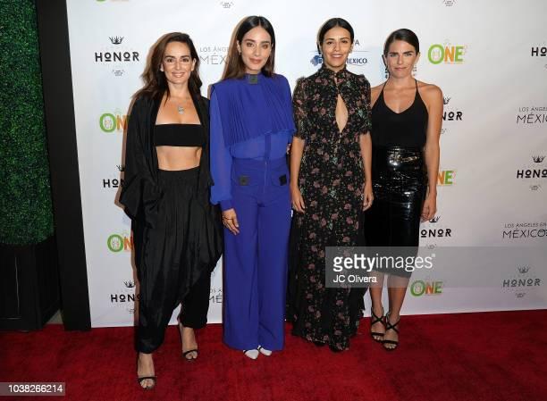 Actors Ana De La Reguera, Esmeralda Pimentel, Olga Segura and Karla Souza attend Los Angeles En Mexico at Casita Hollywood on September 22, 2018 in...