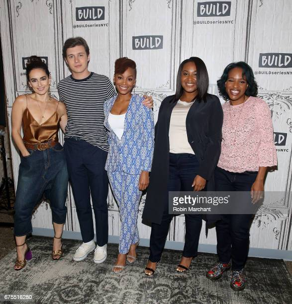 Actors Ana de la Reguera Nick Robinson Anika Noni Rose director Stella Meghie and author Nicola Yoon attend Build Presents The Cast Of Everything...
