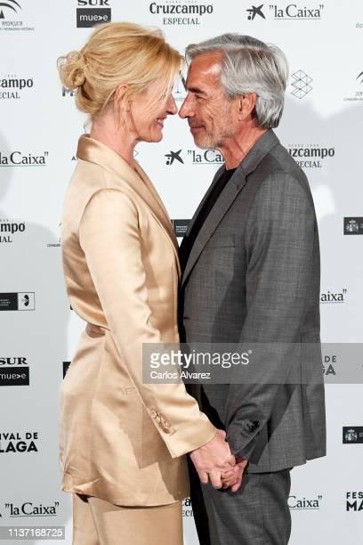 Actors Ana Duato and actor Imanol Arias attend 'Los Dias Que Vendran' premiere during the 22th Malaga Film Festival on March 20, 2019 in Malaga,...