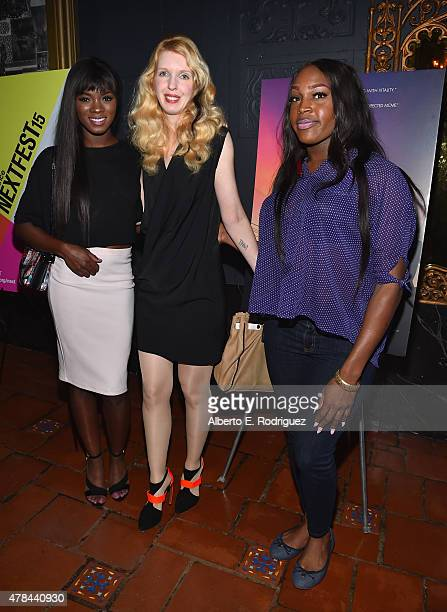Actors Ana Foxx Mickey O'Hagan and Genesis Green attend an advanced screening of Magnolia Pictures' 'Tangerine' sponsored by Sundance NEXT FEST...