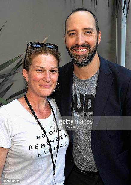 Actors Ana Gasteyer and Tony Hale attend WIRED Cafe during ComicCon International 2016 at Omni Hotell on July 21 2016 in San Diego California