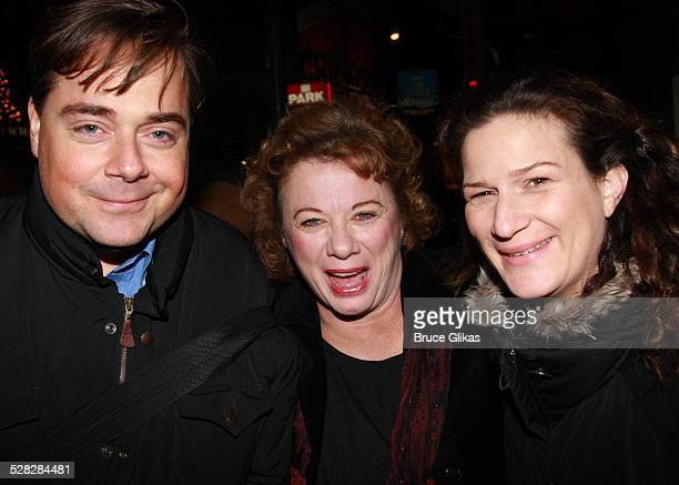 Actors Ana Gasteyer , husband Charlie McKittrick and Rondi Reed pose at The Opening Night After Party for The Steppenwolf Theater Company's August:...