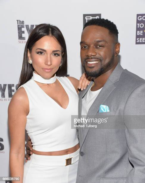 Actors Ana Isabelle and Greg Davis Jr attend the premiere of Parade Deck Films' 'The Eyes' at Arena Cinelounge on April 7 2017 in Hollywood California