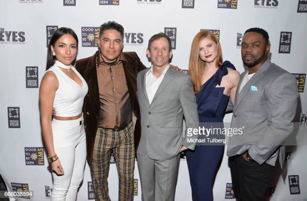 Actors Ana Isabelle and Nick Turturro director Robbie Bryan and actors Megan West and Greg Davis Jr attend the premiere of Parade Deck Films' 'The...