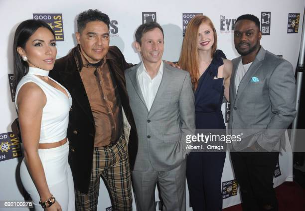 Actors Ana Isabelle Nick Turturro director Robbie Bryan Megan West and Greg Davis Jr arrive for the Premiere Of Parade Deck Films' 'The Eyes' held at...