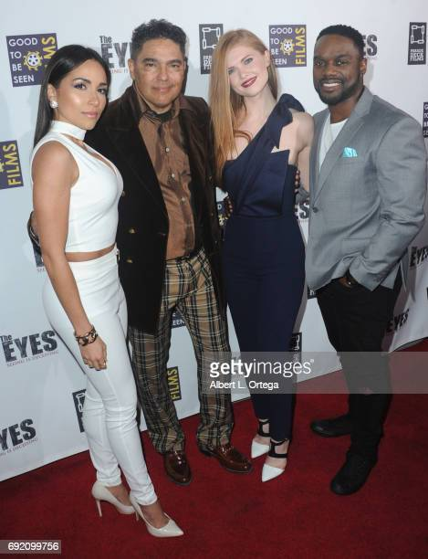 Actors Ana Isabelle Nick Turturro Megan West and Greg Davis Jr arrive for the Premiere Of Parade Deck Films' 'The Eyes' held at Arena Cinelounge on...