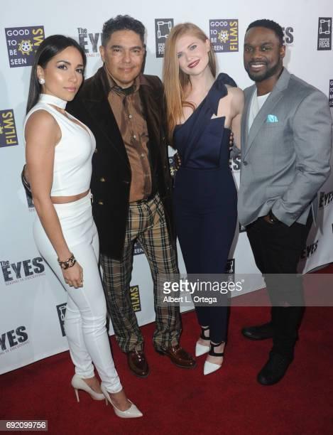 Actors Ana Isabelle Nick Turturro Megan West and Greg Davis Jr arrive for the Premiere Of Parade Deck Films' 'The Eyes' held at Arena Cinelounge on...