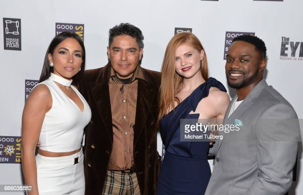 Actors Ana Isabelle Nick Turturro Megan West and Greg Davis Jr attend the premiere of Parade Deck Films' 'The Eyes' at Arena Cinelounge on April 7...