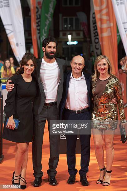 Actors Ana Morgade Ruben Cortada Pepe Viyuela and Pilar Castro attend Olmos y Robles premiere at the Principal Theater during FesTVal 2016 Day 2...